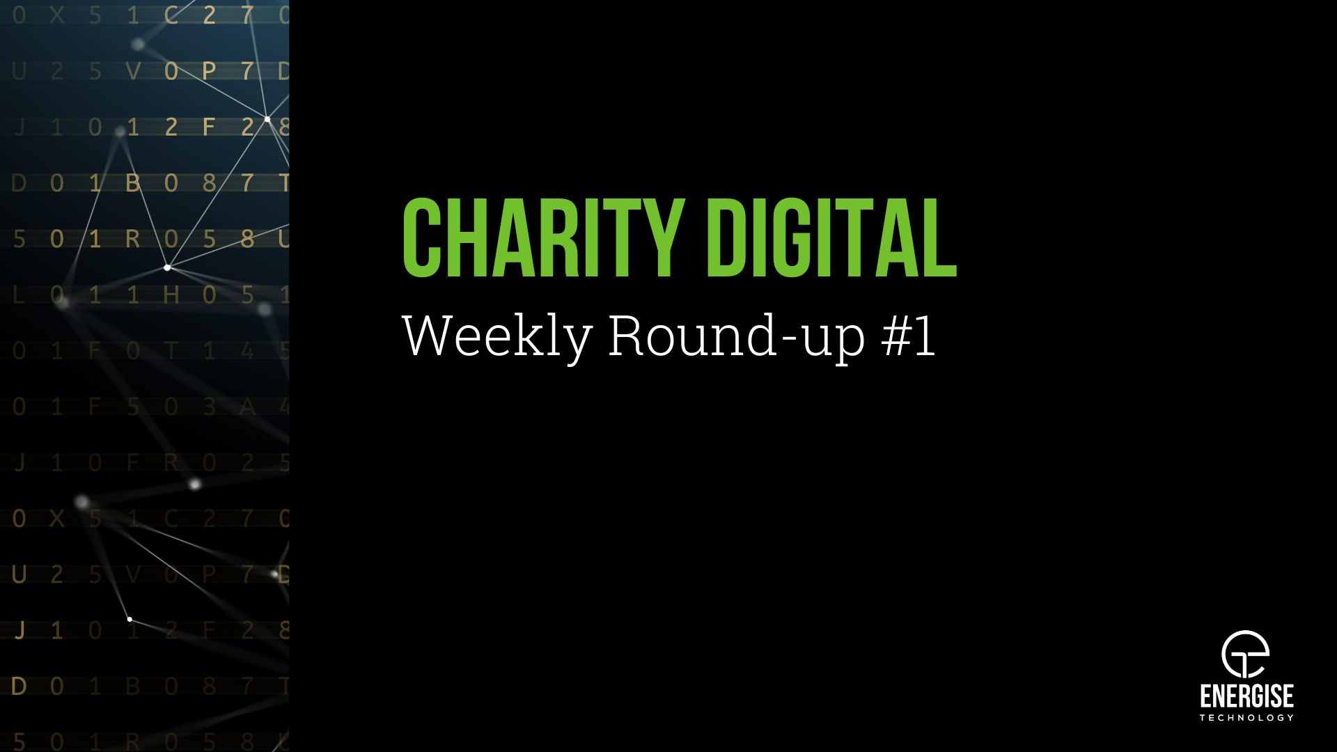 Charity Digital Weekly Roundup #1