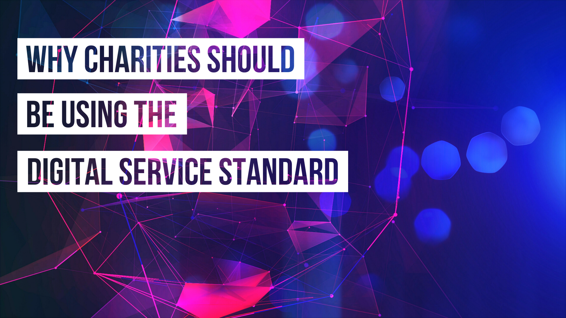 Why Charities should be using the Digital Service Standard